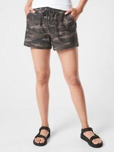 ATHLETA Camo Farallon Short  6  ( S Small ) Black Olive Camo Shorts NEW
