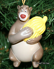DISNEY Jungle Book BALOO BEAR Bananas Christmas Holiday Ornament OPENS hold gift