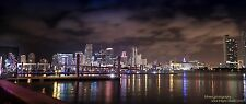 Miami FL skyline  HDR photo on canvas from artist art image  poster