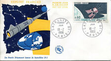 FRANCE FDC - 565 1476 1 SATELLITE D1 - 18 Février 1966 - LUXE