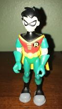 "2003 Talking Robin 5.25"" Teen Titans Go Animated Bandai Action Figure DC Comics"