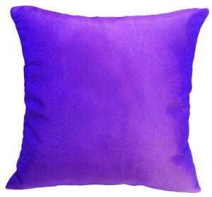 Ja121a 2 Pcs Blue Purple Poly Taffeta Plain Cushion/Pillow Cover*Custom Size