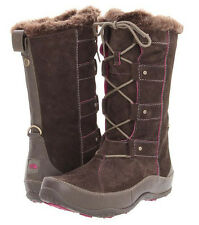NEW THE NORTH FACE Womens Abby IV Waterproof Suede Leather Boots US 7 Brown/Pink