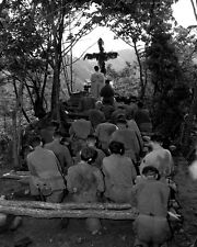 New 8x10 Korean War Photo: Chaplain Conducts Services North of Hwachon, Korea