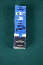 Vintage Cobalt Blue Auto Battery Additive - New in box