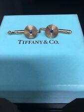 Tiffany & Co.18kyg cufflinks blue sapphire, 2gr