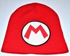 Super Mario Hat Cap Knit Beanie Costume Official Nintendo Red