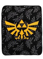 "The Legend Of Zelda Triforce Logos Super Plush Throw 48""x60"" Blanket"