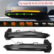 LED Dynamic Side Mirror Turn Signal Lights  Indicator For Audi A4 B9 2017+ A5