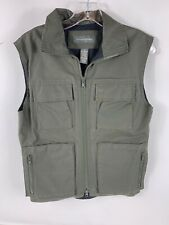 EUC BANANA REPUBLIC OLIVE Army GREEN COTTON Military VEST Hiking Pockets XS