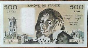 Billet 500 francs PASCAL 5 - 1 - 1984 FRANCE S.204