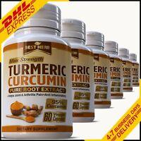Turmeric 95% Curcumin Extract Tumeric Capsules Anti Inflammatory Pills Arthritis