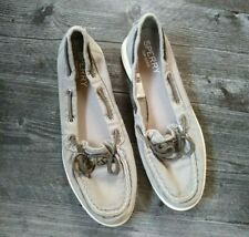 Sperry Oasis Canal Canvas Shoes Womens 8 Gray Boat Shoes