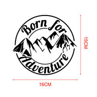 1x Born For Adventure Mountain Car Sticker Caravan Motorcycle Decal Convenient