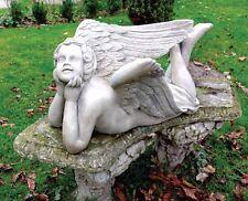 Steinfigur Engel Flügel Grabengel Skulptur Gartenfigu Steinkunst BLACKFORM