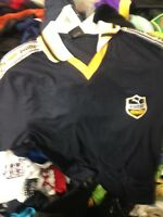 PUMA KING T shirt TOP IN SMALL MENS AT £8  cotton black34/36 INCH VINTAGE
