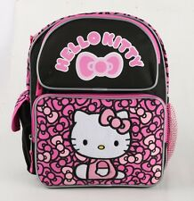 Brand New Hello Kitty Black Pink 12'' Medium size Girls Backpack Kids Book Bag