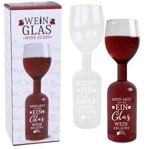 """XXL Weinglas mit Flasche """"Mein Arzt hat mir"""" Geschenkidee Spaß Geschenk"""
