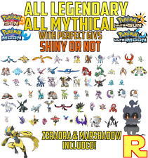 ALL 66 LEGENDARY & MYTHICAL POKEMON - 6IV SHINY or NOT - ULTRA SUN & MOON Legit