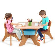 Children Kids Activity Table & Chair Set Play Furniture W/Storage Indoor/Outdoor
