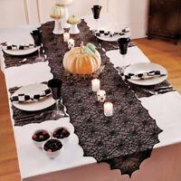 New Gothic Spider Web Nappe Halloween Party Decor Dentelle Couverture De Table.