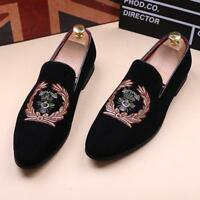 Hot Handmade Men Velvet Slippers Loafers Slip on Dress Shoes Casual Men's Flats