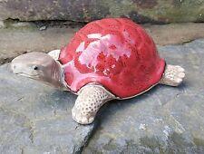 Ceramic Red Tortoise Garden outdoor/Indoors SALE Ornaments