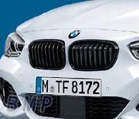Black Kidney Grille Set Genuine BMW F20 LCI 1 Series M Performance 51712357461