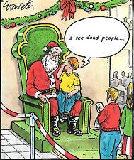 Christmas Holiday Cards Nobleworks Santa I see dead people