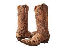 NEW IN BOX OLD GRINGO CLARITA L148-110 OCHRE LEOPARD WOMENS COWBOY BOOTS SZ 9.5