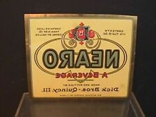 Nearo beer beverage label Dicks Bros Quincy Ill Exc condition Prohibition