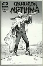 The Walking Dead #10 SERBIAN Edition Black and White Variant RARE