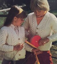 "FK2 - Knitting Pattern - Children's Aran Style Cardigan - 24-30"""