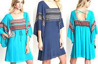 Umgee Dress Size XL S M L Lace Bell Sleeve Tunic Free Boho People Womens New