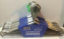 """24 PCS 16"""" Large Heavy Duty Stainless Clothes Coat Jacket  Hangers NEW"""