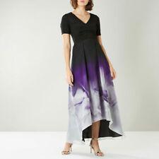 COAST Black Purple Tokyo Print High Low Maxi Dress Ball Gown Size 12 £179 BNWT