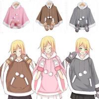 Japanese Harajuku Kawaii 3 Color Neko Atsume Tops Coat Sweet Lolita Winter Cloak
