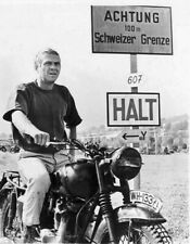 "The Great Escape, Steve McQueen - Motorcycle 1963. Canvas Framed Print 24""x18"""