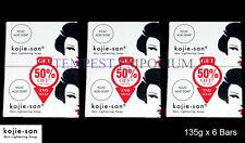 6 x Large 135g Genuine Skin Lightening Kojie San Kojic Acid Soap Whitening BEVI