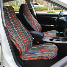 4pc Baja Car Seat Covers Floral Stripe Saddle Blanket Bucket Front Seat Covers