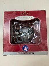 Oakland Raiders football helmet Ornament, Hallmark collectible Keepsake 1998