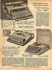1961 ADVERT Royal Futura Typewriter Signet Remington Holiday Portable