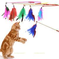 5pcs Verstellbar Katzenangel Angel Spielangel mit Feder für Katze Spielzeug
