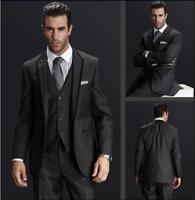 Peak Lapel Best man Suit Black Groomsman/Bridegroom Wedding/Prom 3 Piece Suits