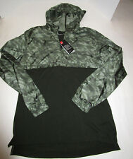 Mens Under Armour Fitted Green Camo 1/4 Zip Anorak Hooded Shirt Jacket XXL
