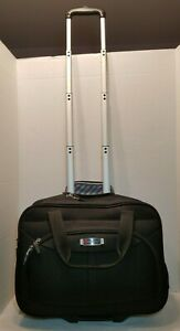 Delsey Rolling UnderSeat Tote Carry-On Bag Black