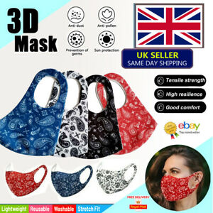 Face Covering Cloth Mask Reusable Washable Breathable In Multi Colours Adult