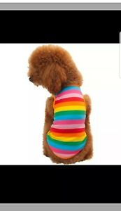 MULTI COLOR SMALL DOG T-SHIRT SUMMER SHIRT