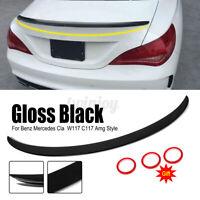 Gloss Black Boot Trunk Rear Spoiler Lip For Mercedes W117 C117 CLA CLA45 AMG