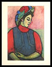 Jawlensky Girl wearing an Apron Poster Kunstdruck mit Alu Rahmen schwarz 71x56cm